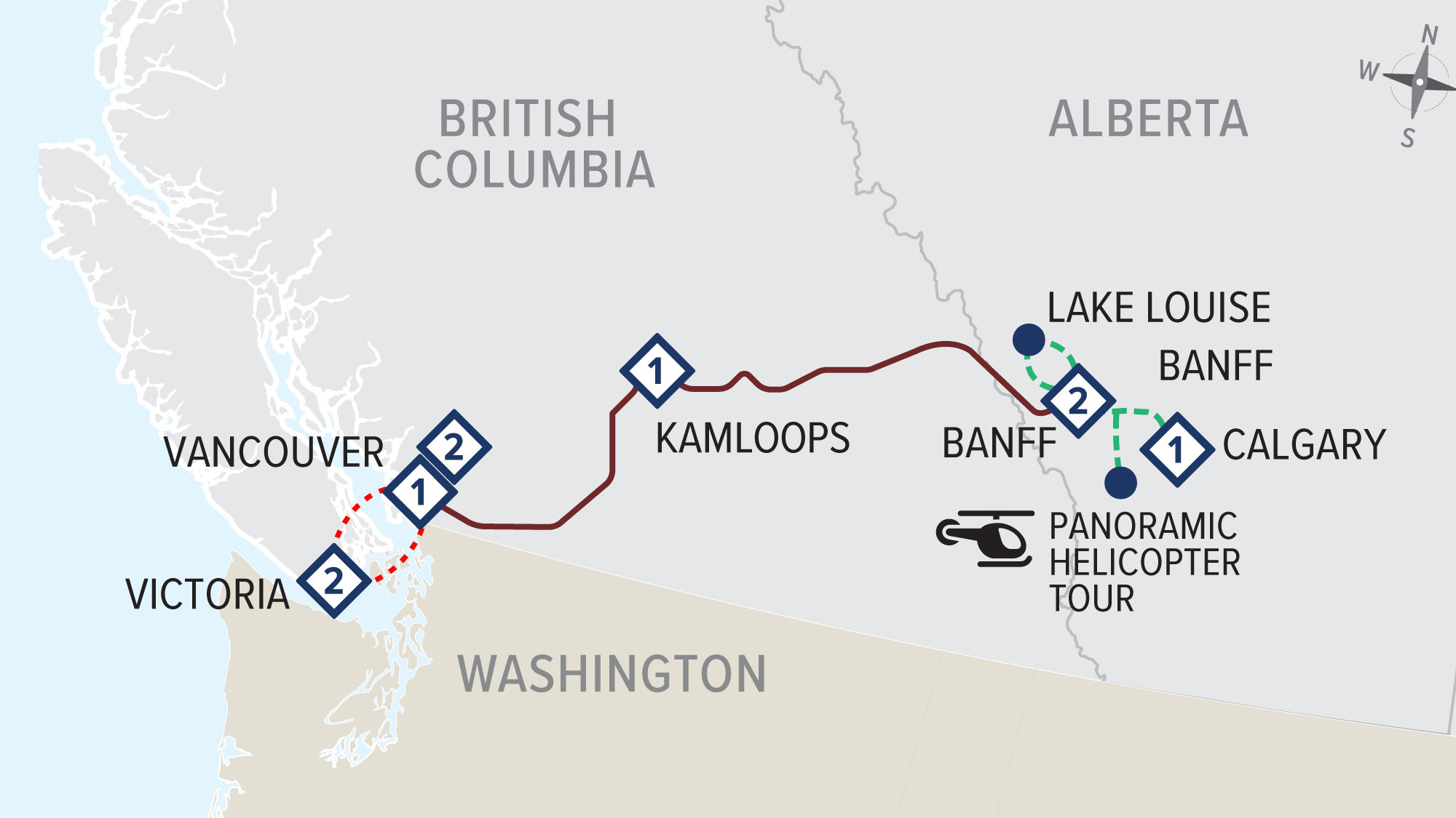 First Passage to the West Highlights and Vancouver Island with Rocky Mountaineer