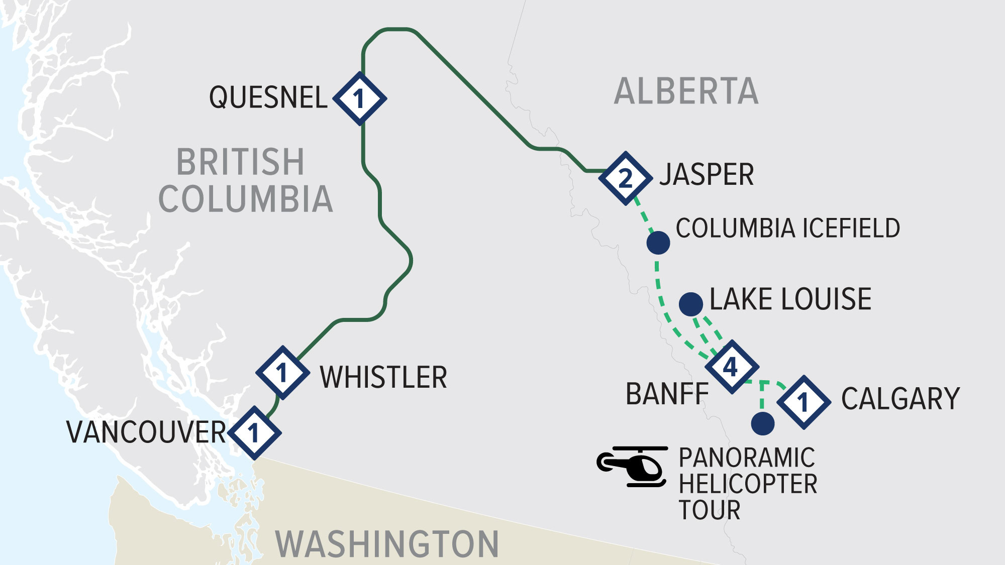 Rainforest to Gold Rush Top Leisure with Rocky Mountaineer