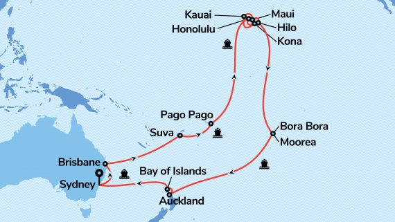Hawaii, Tahiti & South Pacific with Sea Princess