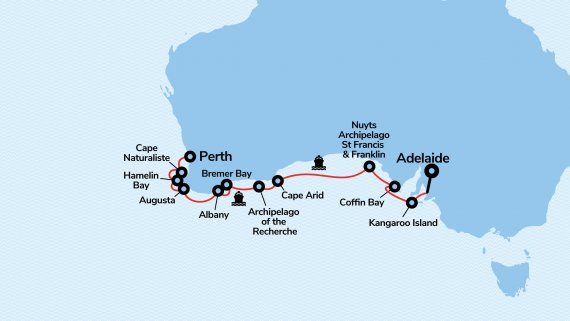 Across the Great Australian Bight with Coral Adventurer