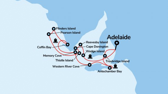 Wild Islands & Walks of South Australia with Coral Adventurer