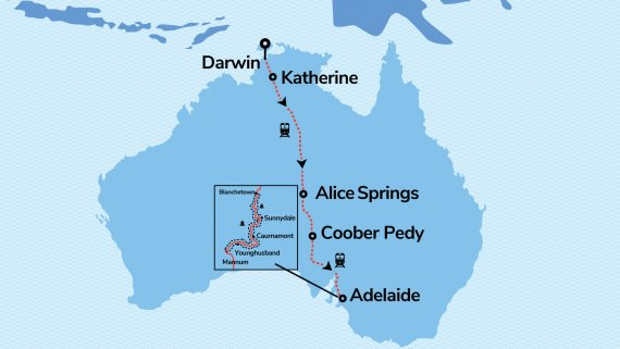 Ghan Expedition & Top End with Murray Princess