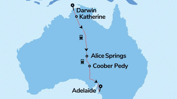 The Ghan Expedition in Platinum Service with FREE stay in Darwin & Adelaide