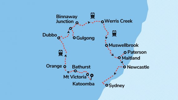 Golden West Rail Tour ex Katoomba (Reverse) - 07APR21