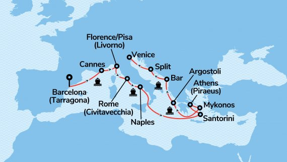 Italy & Greek Isles with Norwegian Dawn Fly, Stay & Cruise