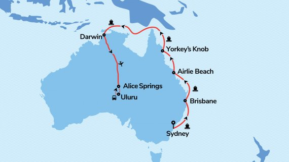 Top End, Red Centre & Field of Light Explorer with Voyager of the Seas