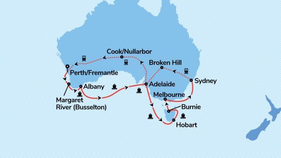 Sydney & Southern Australia with Sea Princess & Indian Pacific