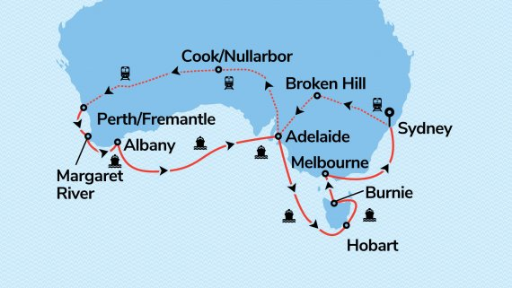 Best of Southern Australia with Sea Princess & Indian Pacific