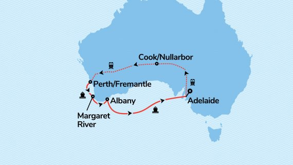 The Great Western Escape with Sea Princess & Indian Pacific