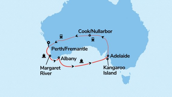 Southern Escape with Sea Princess & Indian Pacific