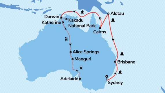 East Coast & Outback with Sun Princess & The Ghan