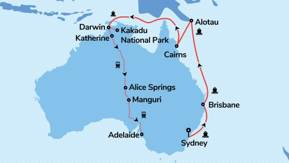 East Coast, Adelaide & Outback with Sun Princess & The Ghan (Hosted Departure)*