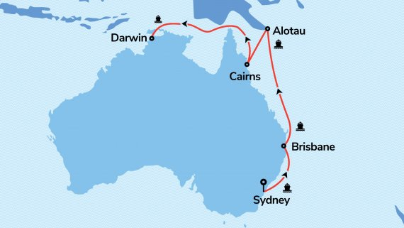Sydney to Darwin with Sun Princess - Stay & Tour Free