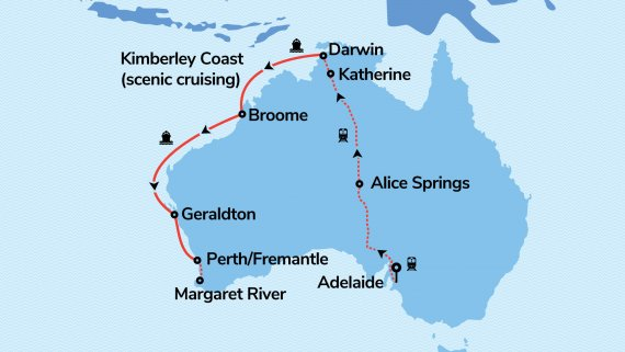 Perth, Top End & The Kimberley with Sun Princess & The Ghan