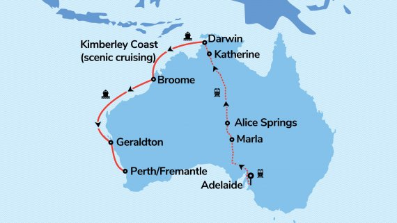 Top End & The Kimberley with Sun Princess & The Ghan