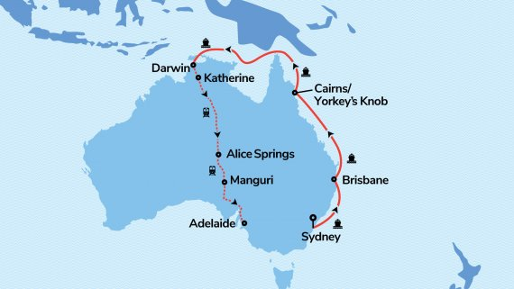 Sydney & Top End Highlights with Radiance of the Seas & The Ghan