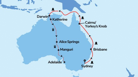 Top End Highlights with Radiance of the Seas & The Ghan