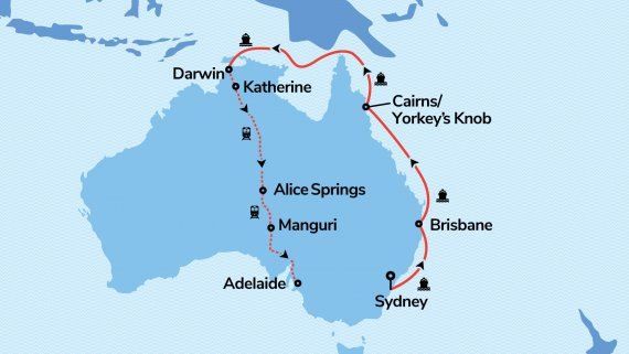 Top End & Adelaide Highlights with Radiance of the Seas & The Ghan