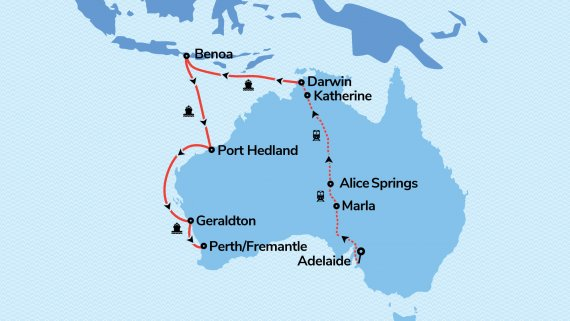 Top End & Perth Adventurer with Radiance of the Seas & Ghan