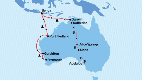 Top End Adventurer with Radiance of the Seas & The Ghan