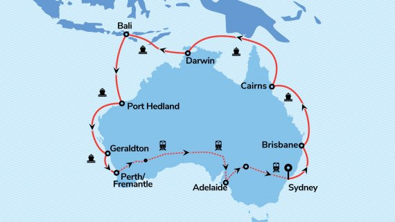 Coast to Coast & Best of the West with Radiance of the Seas & Indian Pacific (Fully Escorted)*