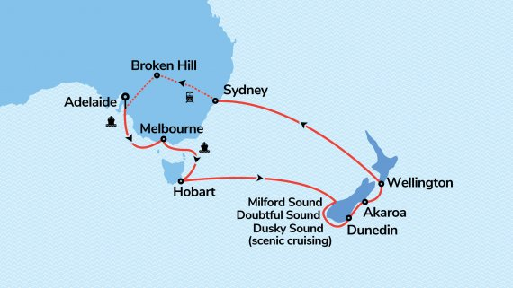 New Zealand & Southern Australia Discovery with Radiance of the Seas & Indian Pacific