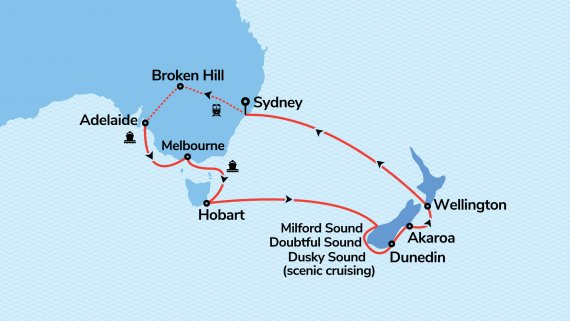 Southern Australia & New Zealand with Radiance of the Seas & Indian Pacific