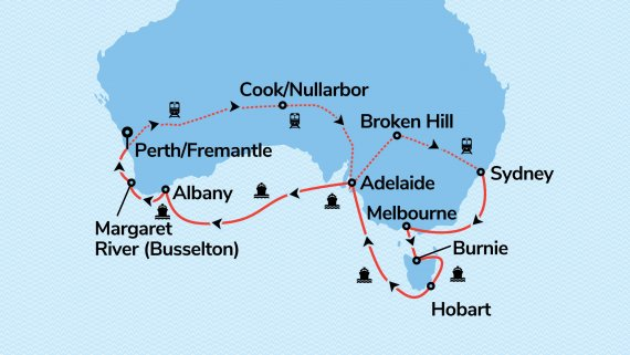 Sydney, Southern Australia & Nullarbor with Sea Princess & Indian Pacific