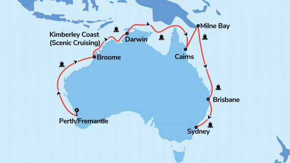 Perth, The Kimberley & Top End with Sea Princess