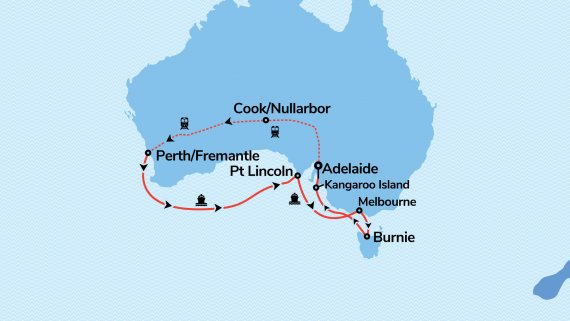 Southern Australia Escape with Sun Princess & Indian Pacific