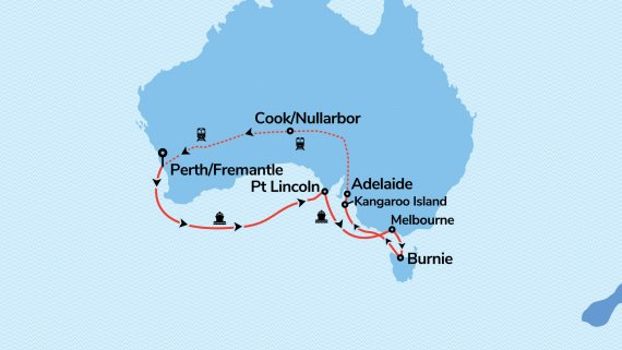 Southern Explorer with Sun Princess & Indian Pacific