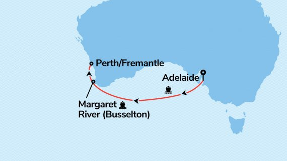 Adelaide to Fremantle with Sun Princess