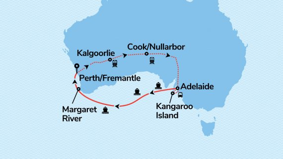 Adelaide Escape with Sun Princess & Indian Pacific