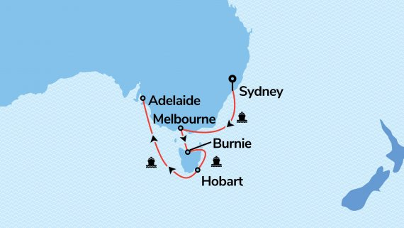 Sydney to Adelaide with Sea Princess