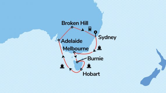 Southern Australian Highlights with Sea Princess & Indian Pacific