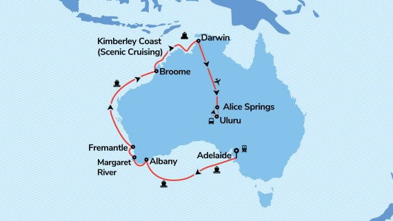 West Coast, The Kimberley, Top End & Red Centre with Sea Princess & Field of Light