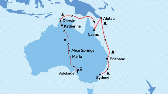 Top End & East Coast Explorer with Sea Princess & The Ghan