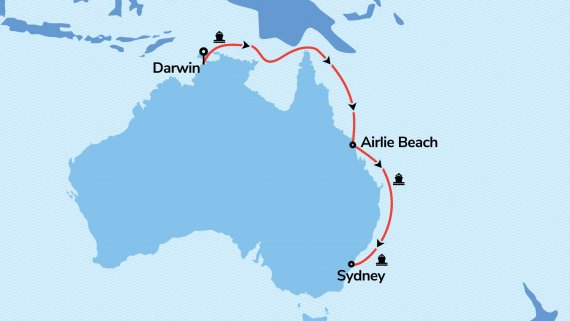 Darwin to Sydney with Pacific Explorer