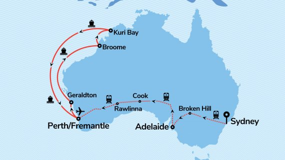 Perth, Broome & Treasures of the Northwest with Vasco da Gama & Indian Pacific