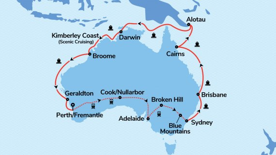 Top End Coast to Coast with Sea Princess and Indian Pacific - Ex Perth