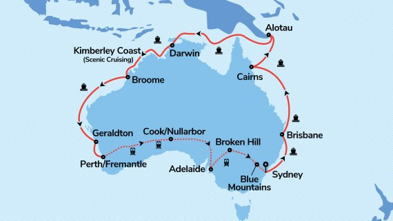 Top End Coast to Coast & Perth Explorer with Sea Princess & The Indian Pacific