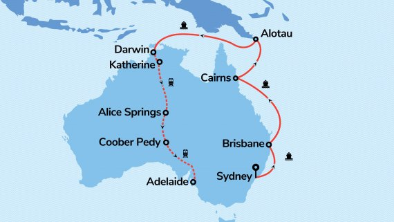 East Coast & Top End Explorer with Sea Princess & The Ghan Expedition