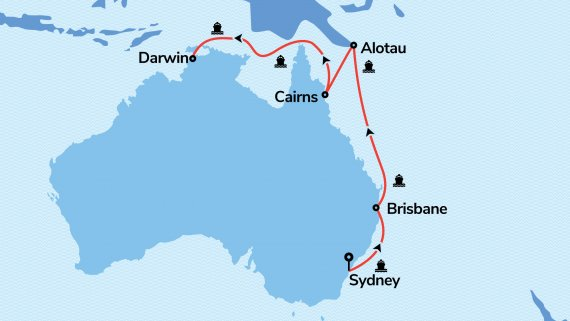 East Coast and Top End Explorer with Sea Princess
