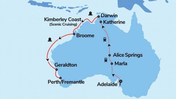 Top End and The Kimberley Coast with Sea Princess & The Ghan