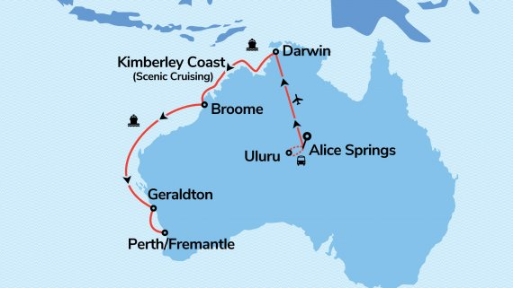 Top End, The Kimberley Coast & Red Centre Adventure with Sea Princess