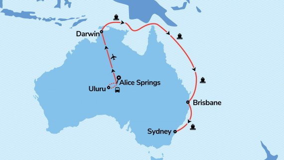 East Coast, Top End & Red Centre Explorer with Majestic Princess