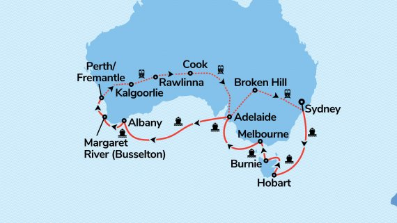 Southern Coast to Coast with Sun Princess and Indian Pacific