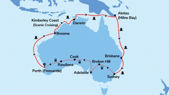Top End Coast to Coast with Sun Princess and Indian Pacific