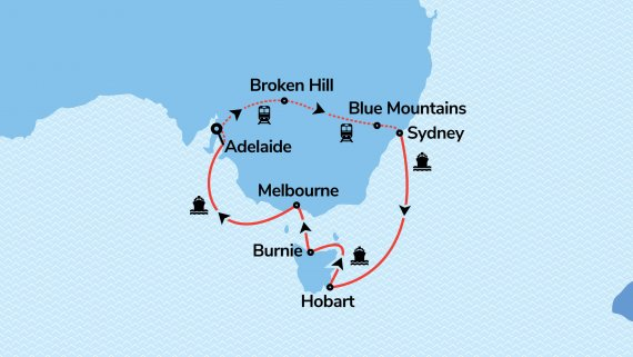 Best of Sydney & Southern Australia with Sun Princess & Indian Pacific