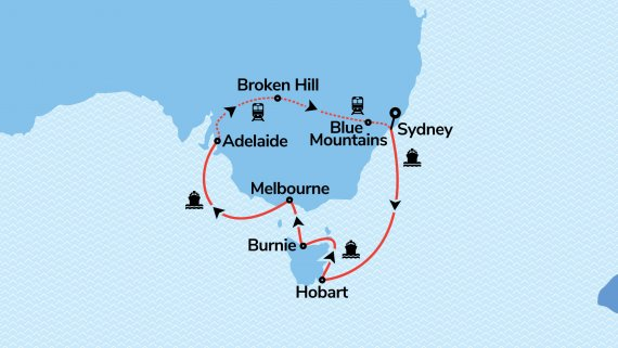 Best of Adelaide & Southern Australia with Sun Princess & Indian Pacific